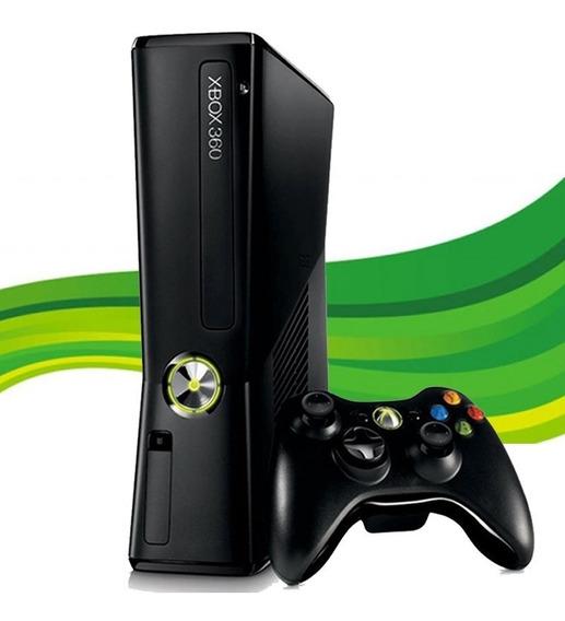 Xbox 360 Slim Original + 1 Controle + 1 Jogo Original - 12x