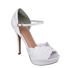 964fe0817c Sapato Salto Alto Para Noiva Meia Pata Cristal - Sapatos no Mercado ...