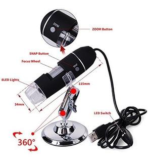 Xcsource 20 X-800 X 8 Usb Led 3d Digital Zoom Microscopio
