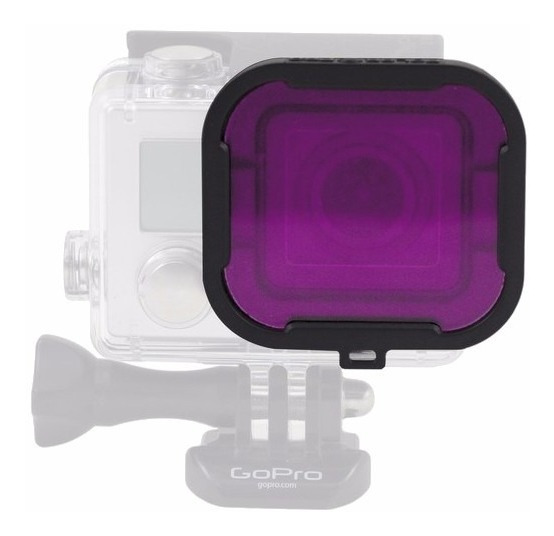 Lente Mergulho Gopro Hero 4 E 3+ Magenta Filter Violeta Roxa