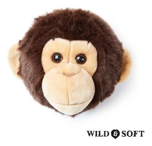 Imagem 1 de 5 de Cabeça De Parede De Pelúcia Macaco Joe Wild And Soft