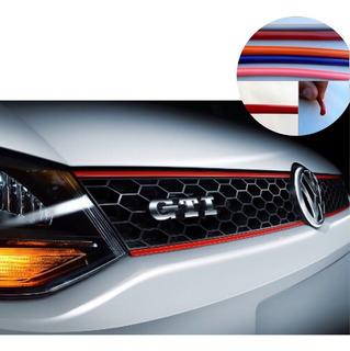 Moldura Roja Vira 5mm Adhesiva X Mtr Con 3m Auto Tuning Itz