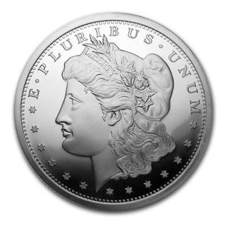 Moneda Medalla De 5 Onzas Plata Morgan