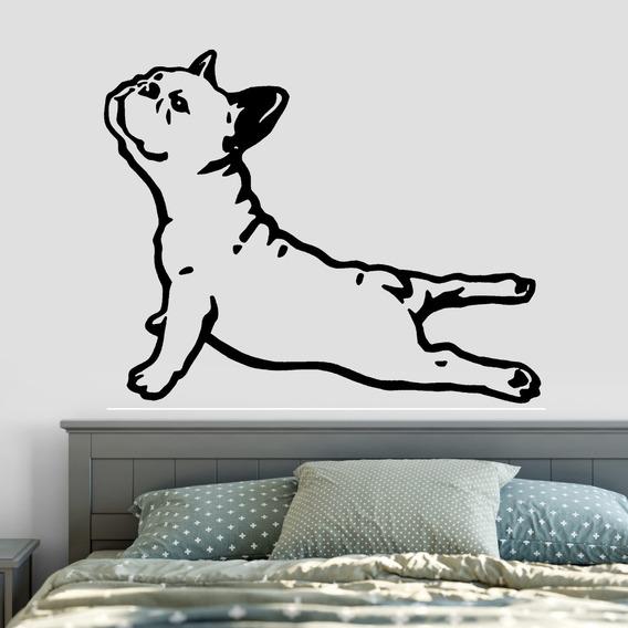 Adesivo De Parede - Bulldog Francês Cachorro Dog Cão Pet