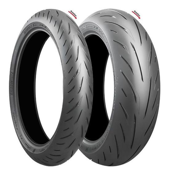 Pneus Bridgestone S22 120/70 R17 E 180/55 R17