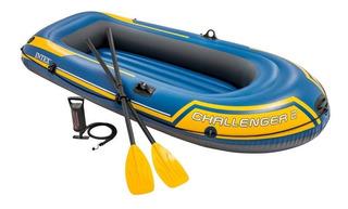 Lancha Inflable Kayak Bomba Remos Pesca Bote 2 Personas Intx