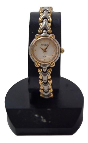 Relógio Vintage Technos Prateado.