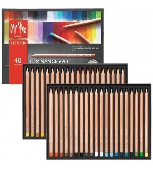 Lápis Luminance Caran Dache Estojo 40 Cores Profissional