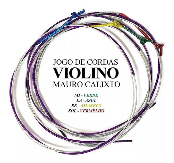 Jogo De Corda Violino 4/4 Mauro Calixto Qualidade Premium