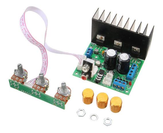 Componentes Da Placa Do Amplificador De Áudio Estéreo Tda203