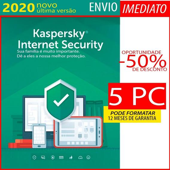 Kaspersky Internet Security 5 Pc 1 Ano Envio Imediato