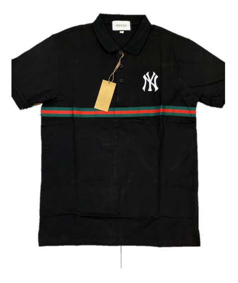 Camisa Polo Gucci New York Black Envio Gratis
