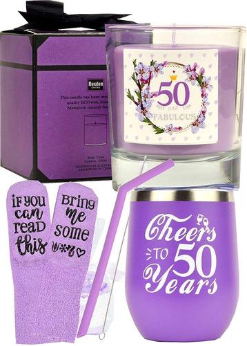 Imagen 1 de 7 de Regalos De 50 Cumpleaños Para Mujeres, 50 Años De Edad, 50 C