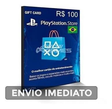 Cartão 100 Reais Psn Brasileiro