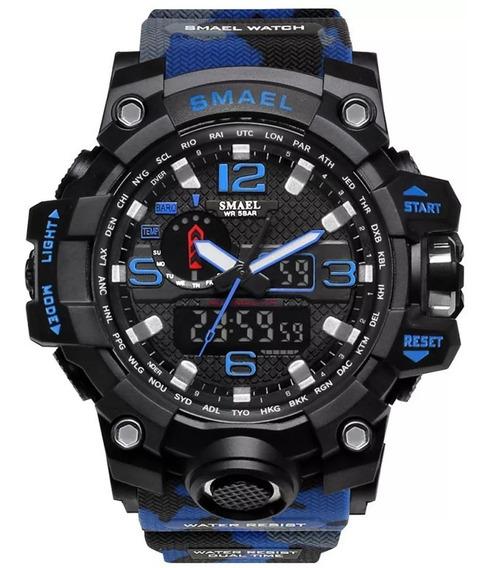 Relógio Masculino Esporte G Shock Smael 1545 Exército 50 M