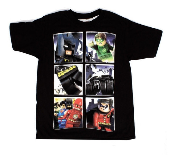 Playera Para Niño Lego Estampado Batman Y Super Man Movie