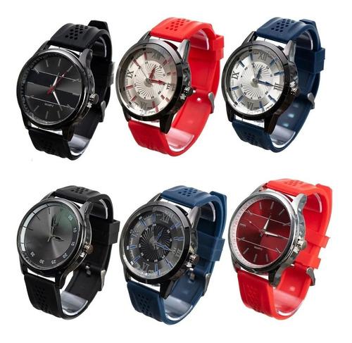 Kit Relógio Masculino Barato Lote C/6pcs Atacado + Caixa Top