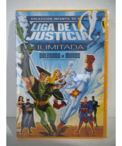 Liga De La Justicia Ilimitada Salvando Al Mundo Dvd