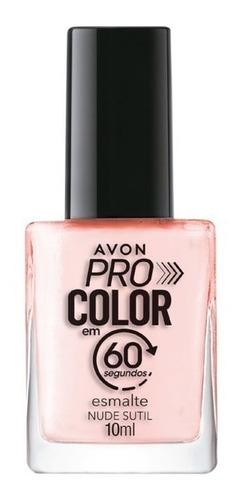 Imagem 1 de 1 de Avon - Pro Color 60 Segundos - Esmalte - Nude Sutil
