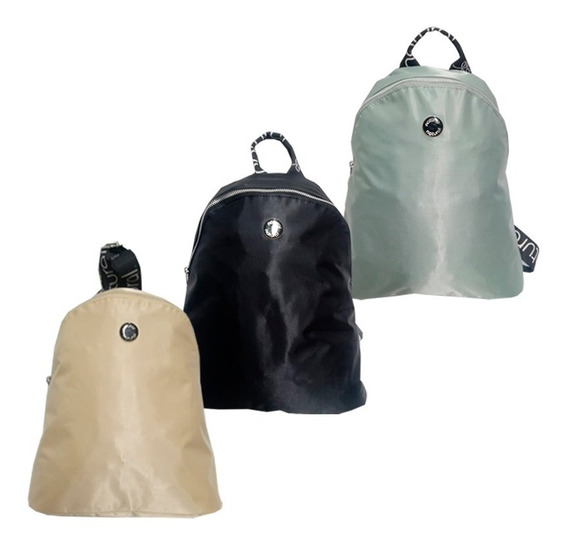 Mini Mochila Mujer Tela Avion Natural Nacional 555-n Maple