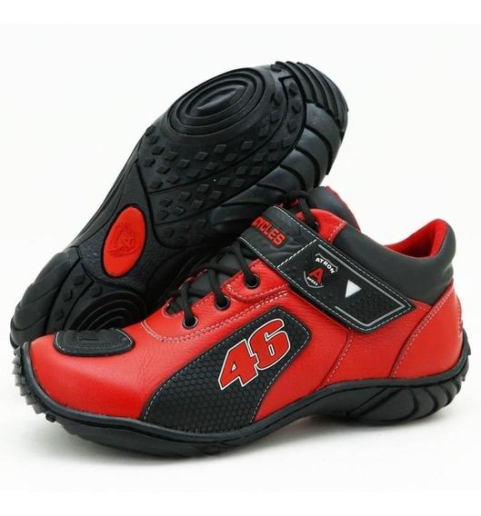 Bota Motociclista Valentino Rossi Atron Shoes 401 Cores