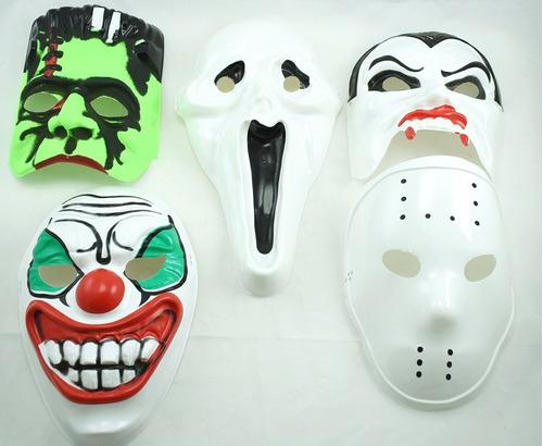 Mascara Plástica Personajes Halloween Fiesta Disfraz