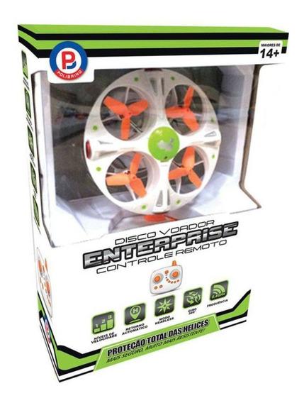 Drone Disco Voador Enterprise Aéreo Polibrinq Enterprise Com Controle Remoto