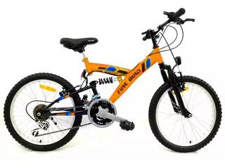 Bicicleta Mountain Bike Firebird Doble Suspension Rodado 20
