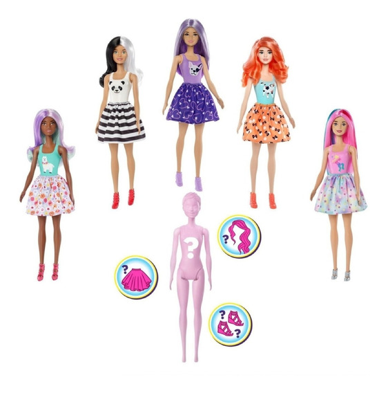 Boneca Barbie Fashionist Estilo Surpresa Color Reveal Mattel