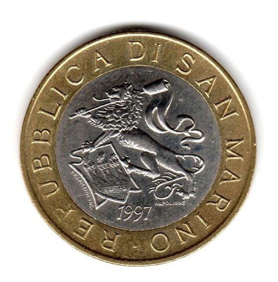 Bkz / San Marino - 1000 Liras 1997 Bimetálica Milenio Const.