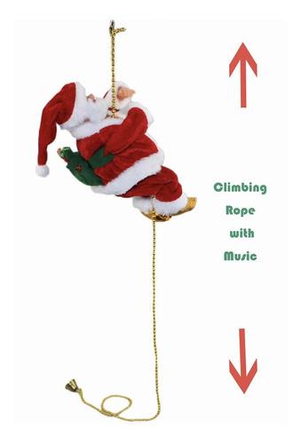 Juguete Colgante Santa Claus Escalando Cadena Adorno Arbol