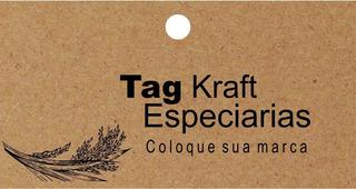 Tag Kraft Embalagens Personalizadas P/ Especiarias 100 Pçs