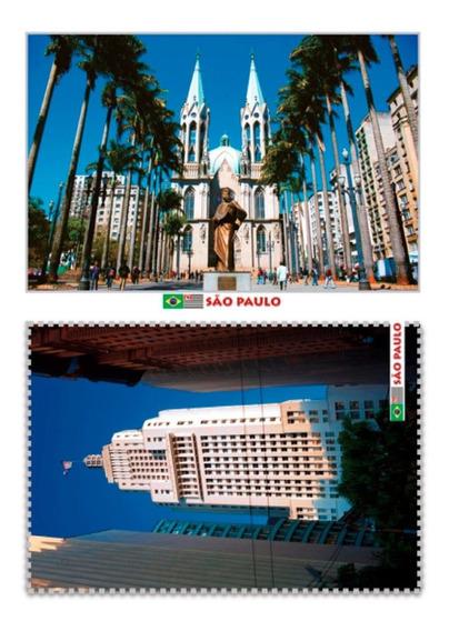 Set Com 10 Cartões Postais Sp