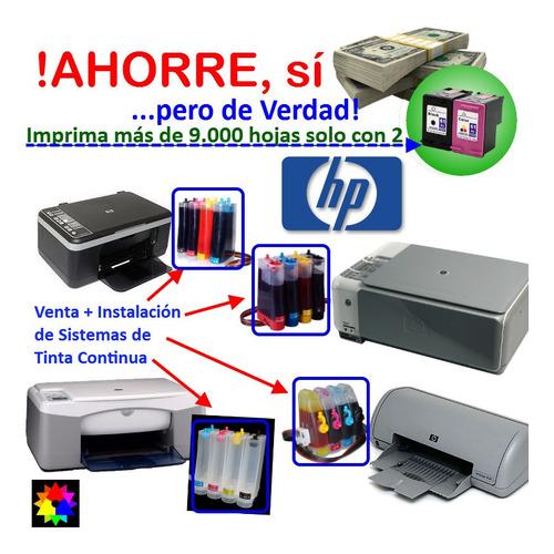 Sistema De Tinta Continua Mas Instalacion En Impresoras Hp