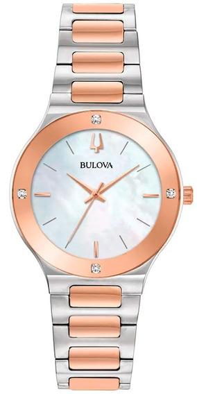Relógio Bulova Feminino Millennia 98r274 *diamantes