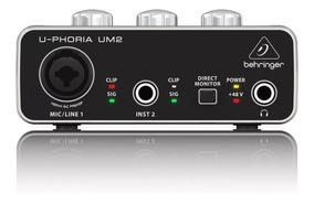 Interface Behringer U-phoria Um2 + Garantía