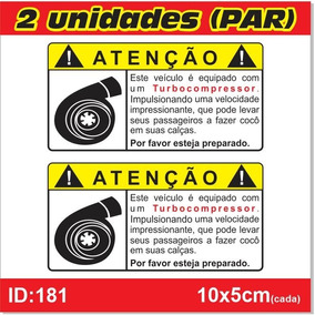 Par De Adesivos Turbo Compressor, Para Carro Turbo - Imp181