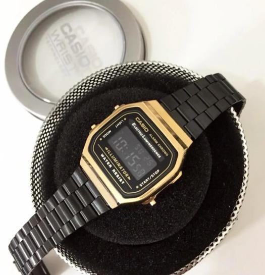 Relógio Cassio B650 Preto Aço Feminino Promoção Novo Oferta