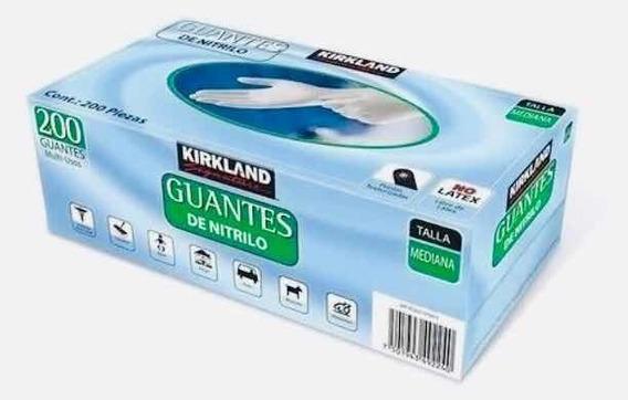 Guantes Nitrilo Kirkland Caja 200 Pzas Mediana!!!