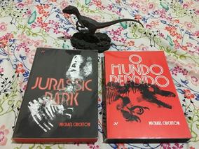 Jurassic Park - Livros + Estatueta Velociraptor