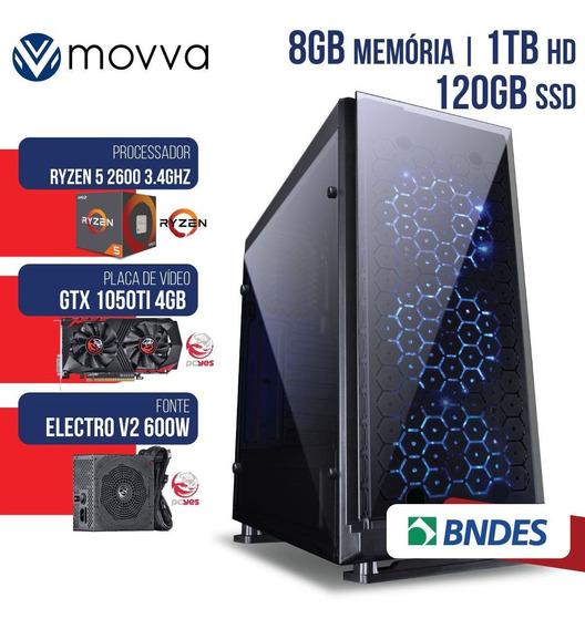 Computador Gamer Amd Ryzen 8gb Hd1tb Ssd 120gb Gtx1050ti 4gb
