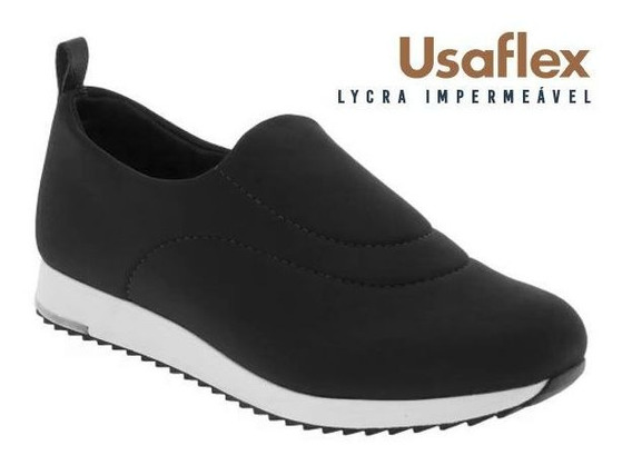 Tênis Feminino Usaflex Lycra Impermeável V9103