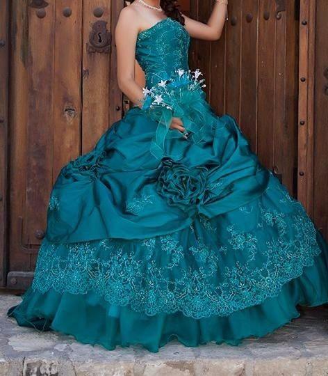 Vestido 15 Ano Mexicano Ropa Bolsas Y Calzado En