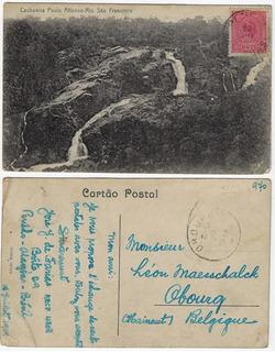 Bahia 1919 Cartão Postal Foto Cachoeira De Paulo Afonso