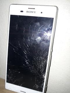 Celular Xperia Z3 Branco Com Defeito Para Aproveit. De Peça