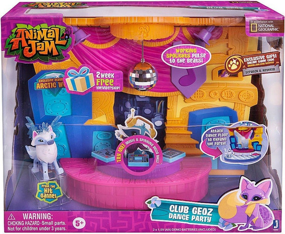 Mascota Animal Jam Muñeco Club De Baile Playset Original