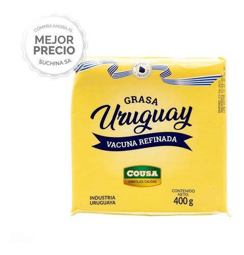 Imagen 1 de 5 de Grasa Vacuna Uruguay 400grs Pack X5 Unidades Suchina Sa