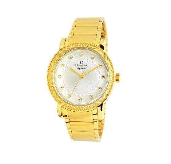 Relógio Champion Feminino Cn25707h Metal Dourado