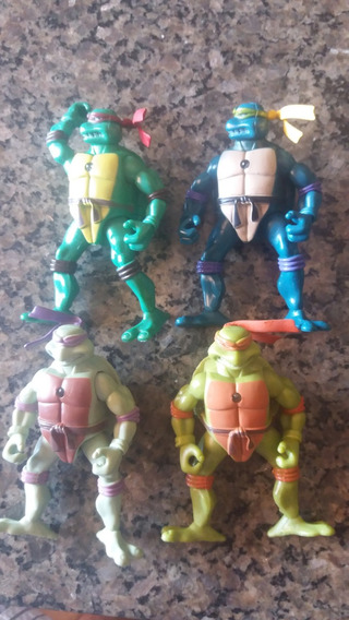 Kit Com 4 Bonecos Tartaruga Ninja C/luzes - Lote 1