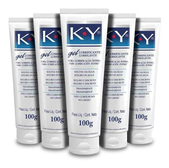 Ky Gel Lubrificante Íntimo 100g ( Kit C/5 Unidades)